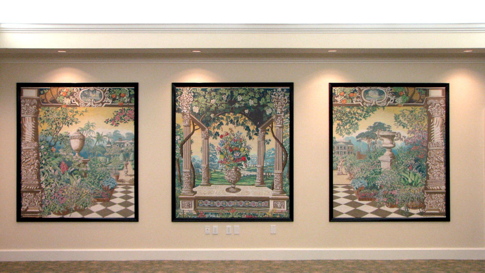 Karl b smith artist decorative painter interior for Canvas mural painting